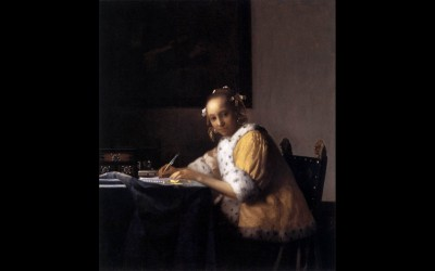 Vermeer: schrijvende vrouw
