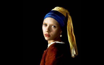 Scarlett Johansen in de film: girl with a pearl earring